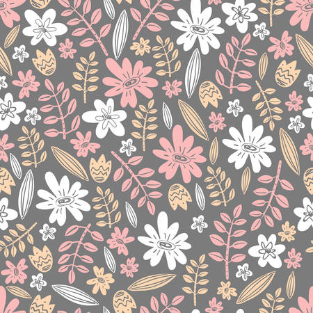 Seamless vector pattern. Scrapbooking, background, wrapping pape 向量圖像