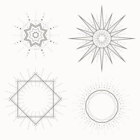 Geometric pattern, Art Deco, modern style.Strict forms, vector illustration Ilustracja
