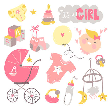 Its a girl doodle set. Pink and yellow baby care