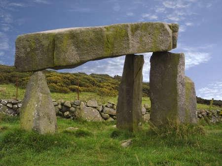 grave site: Legananny Dolmen in the Mournes, Co. Down, Ireland