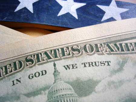 In God We Trust on 50 Dollar Bill                                Stock Photo