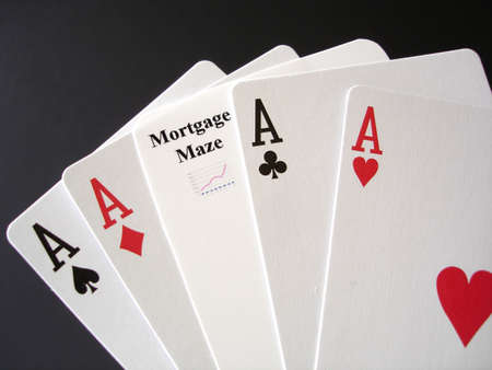 foreclose: Poker Aces and a Mortgage card for a gamble.