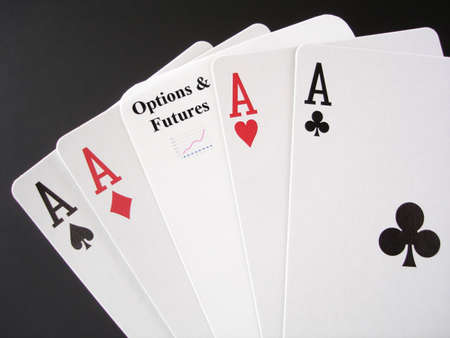 Poker Aces and a Options and Futures card, for a real gamble