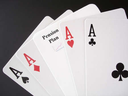 Poker Aces and a Pension card for a gamble on your future