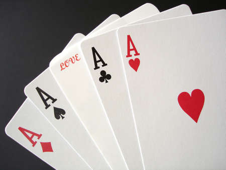 Taking a gamble on Love with poker aces.