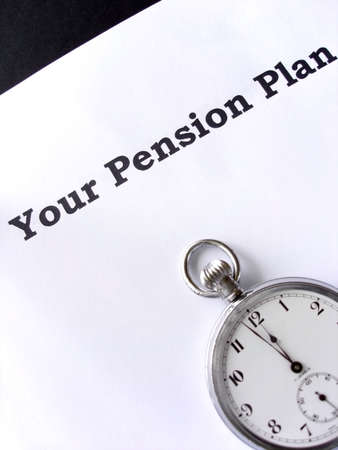 Two minutes to midnight for your pension plan                                Stock Photo