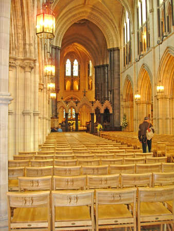 Interior of Christ Church Cathedral, Dublin Editorial