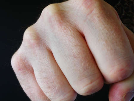 Mans Fist Punching