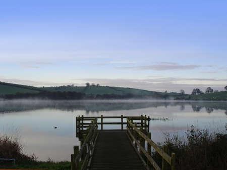 Misty Morniing on An Irish Lake in Fall
