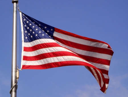 Old Glory the Stars and Stripes Stock Photo - 1779597