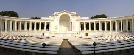 Panoramic view of the Memorial Amphitheater at the Tomb of the Unknown Soldier, Arlington Cemetery, VA