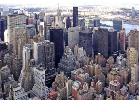 Cityscape of Midtown Manhattan                                Stock Photo
