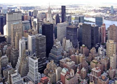 Cityscape of Midtown Manhattan                                Stock Photo