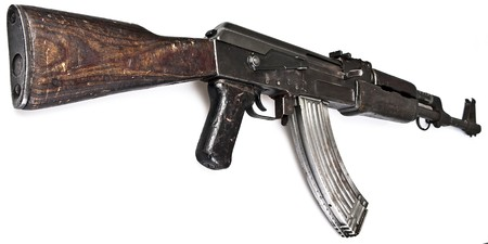 kalashnikov: Ak 47 Russian Made Assault Rifle  Stock Photo