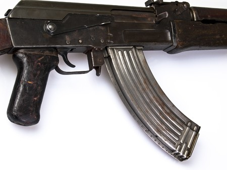 tetik: AK 47 Trigger and magazine Stok Fotoğraf