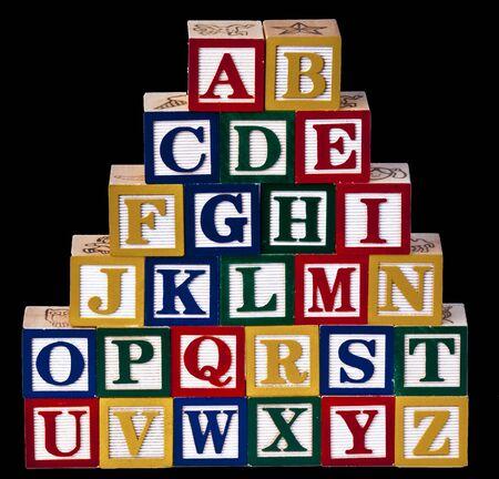 abcd: Alphabet Wooden Blocks Stock Photo