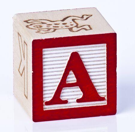 Wooden Block Letter A photo