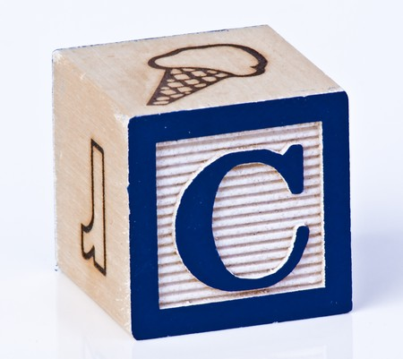 letter blocks: Wooden Block Letter C