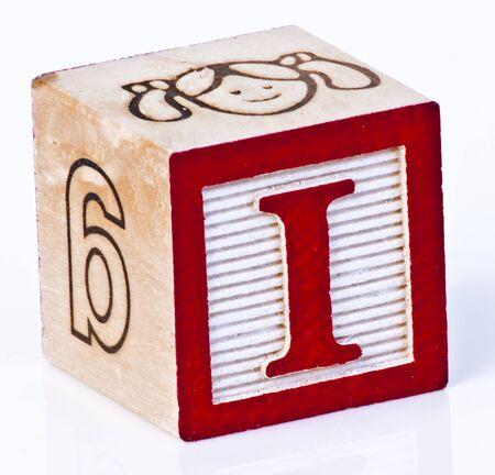 wooden blocks: Wooden Block Letter i
