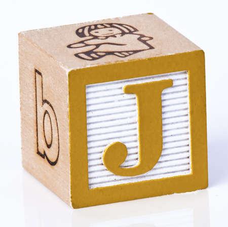 Wooden Block Letter J photo