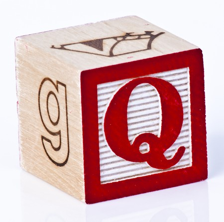 letter q: Wooden Block Letter Q Stock Photo