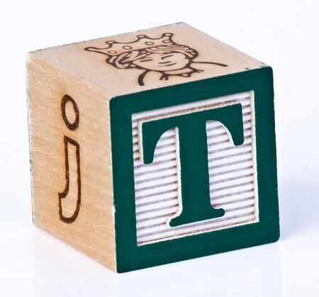 wooden blocks: Wooden Block Letter T
