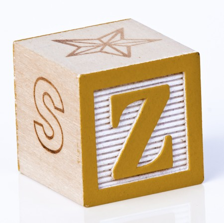 carved letters: Wooden Block Letter Z