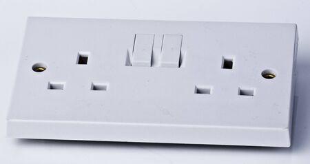 3 pin electrical socket Stock fotó