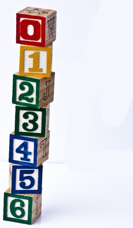 Building Block zero to six Stock Photo - 7042873