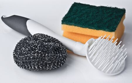 Kitchen Sponge with cleaning Pad photo