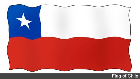 flying flag: Flying Flag of Chile Stock Photo