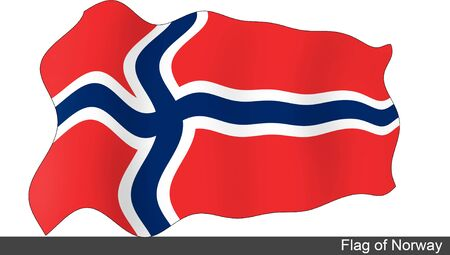 flying flag: Flying Flag of Norway Stock Photo