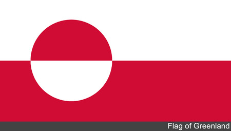 greenland: Flag of Greenland Stock Photo