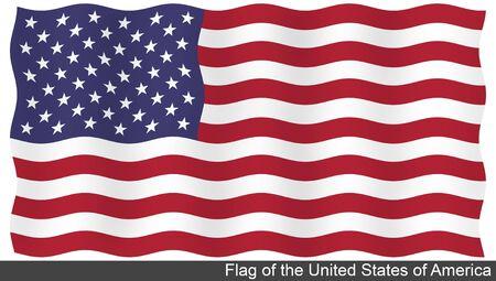 flying flag: Flying Flag of United States Stock Photo