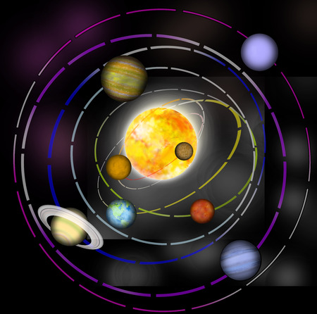gravitation: Solar System Stock Photo