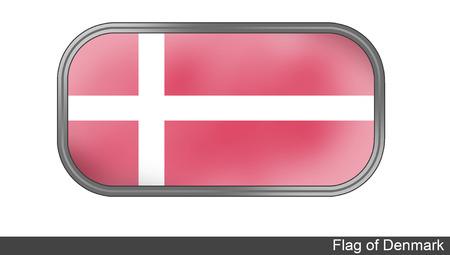 denmark flag: 3D Denmark Flag Stock Photo