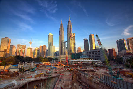 construction: A new development area next to national icon the petronas twin tower building