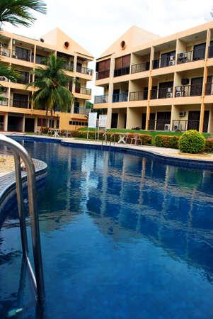 beautiful swimming pool image at penang, malaysian