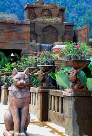 beautiful temple gardens image at pahang, malaysian # Stock Photo