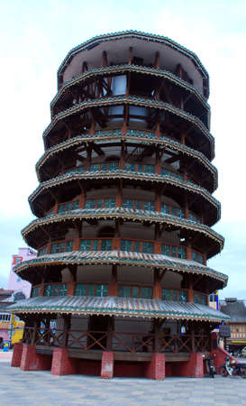 beautiful menara condong image at perak, malaysia #