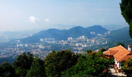 beautiful Penang Hill views at Penang, Malaysian Stock Photo