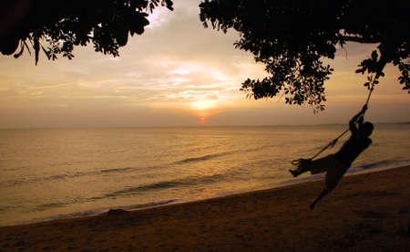 beautiful sunsets view image at pahang, malaysian #