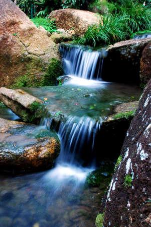 beautiful focus a waterfalls image at pahang  malaysian Stock Photo