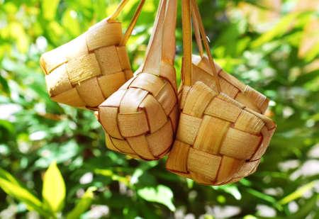 Ketupat served during Idul Fitri and Hari Raya Aidilfitri celebrations