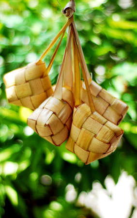 Ketupat served during Idul Fitri and Hari Raya Aidilfitri celebrations