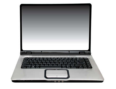 laptop computer on the white background