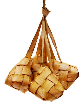 Ketupat served during Idul Fitri and Hari Raya Aidilfitri celebrations photo