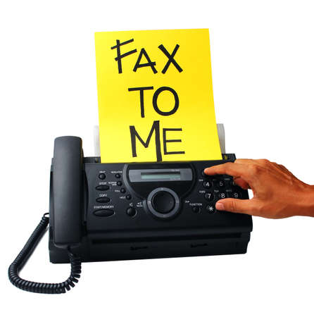 copycat: fax machine image on the white background