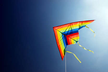 colours kite on the blue sky background
