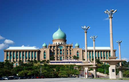 putrajaya mosque image on the blue sky background Stock Photo